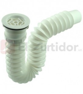 Céspol Flexible Para Fregadero Fleximatic 2233 Blanco