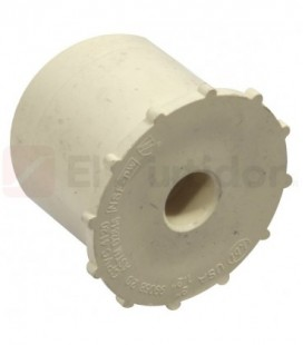 Reducción Bushing Cpvc Durman 50x13mm Blanco.