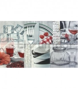 Juego Dec Red Home 25x75 Digital Blanco Co2 605777 Porcelanite