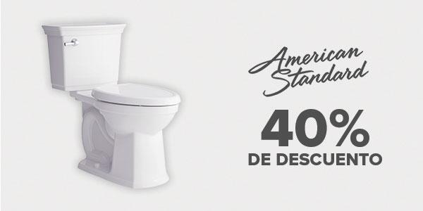 40% de descuento en American Standard