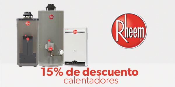 15% de descuento en Calentadores Rheem