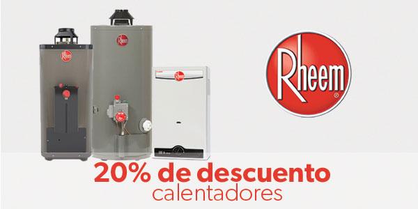 20% de descuento en Calentadores Rheem