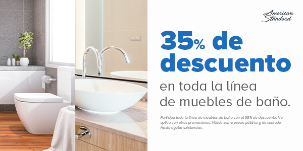 35% de descuento en muebles para baño de American Standard