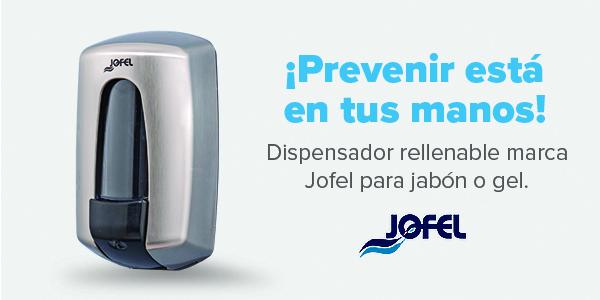Dispensador rellenable marca Jofel