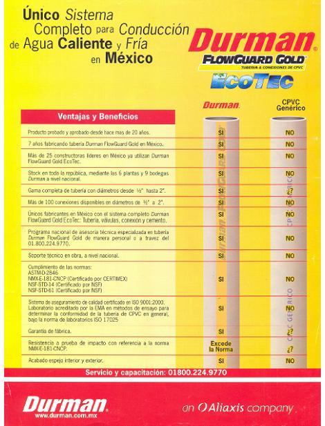 Durman N.01 FlowGuard Gold Eco Tec