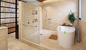 piso baño grande