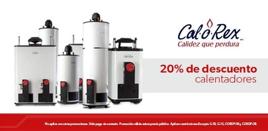calorex 20% de descuento