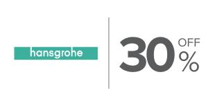 30%, Descuento en productos de la marca Hansgrohe