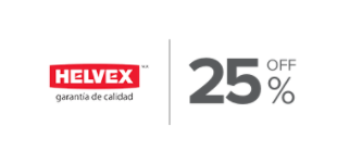 25%, Descuento en productos de la marca Helvex Ceramica