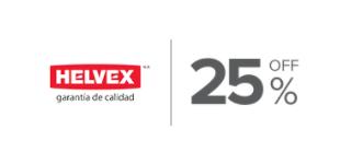 25%, Descuento en productos de la marca Helvex Griferia